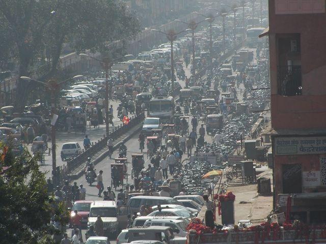 Zdjęcia: Jaipur, Rajasthan, korki.....nigdy..., INDIE