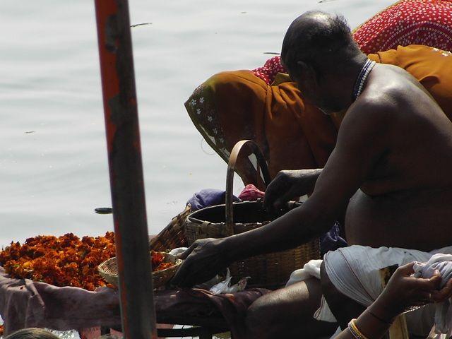 Zdj�cia: Varanasi, Uttar Pradesh, pielgrzym, INDIE