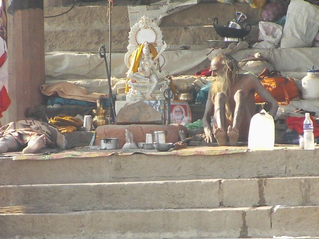 Zdjęcia: Varanasi, Uttar Pradesh, asceci, INDIE