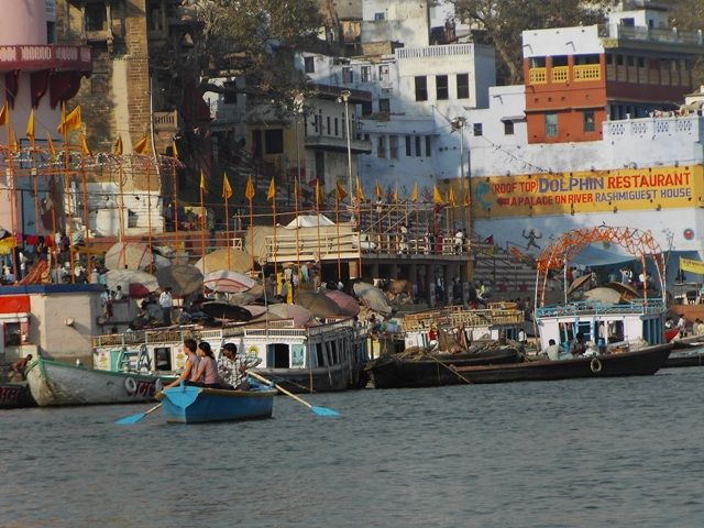 Zdjęcia: Varanasi, Uttar Pradesh, z łodzi, INDIE