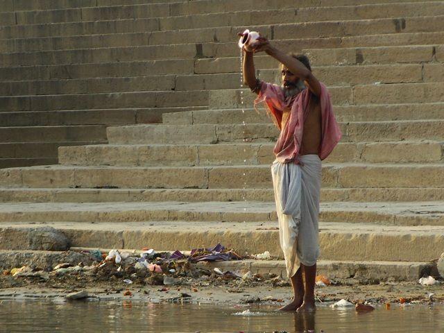 Zdjęcia: Varanasi, Uttar Pradesh, religijne obrzędy, INDIE