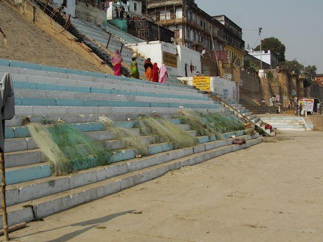 Zdjęcia: Varanasi, Uttar Pradesh, rybołówstwo???, INDIE