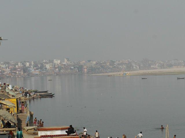 Zdj�cia: Varanasi, Uttar Pradesh, widok na Ghaty, INDIE