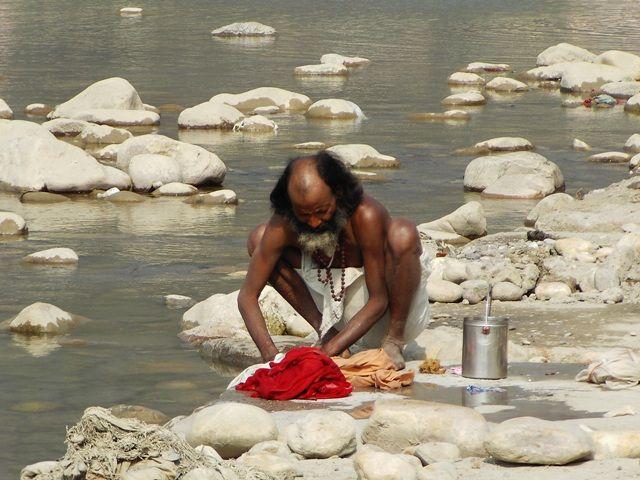 Zdj�cia: Rishikesh, Uttaranchal, pranie, INDIE