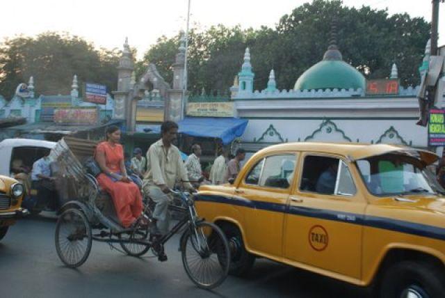 Zdjęcia: Salt Lake City, Kalkuta, Ruch uliczny w Kalkucie, INDIE
