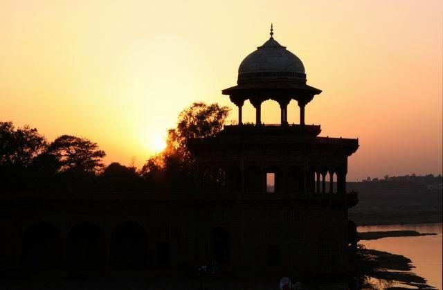Zdj�cia: Agra, Z tarasu Taj Mahal, INDIE