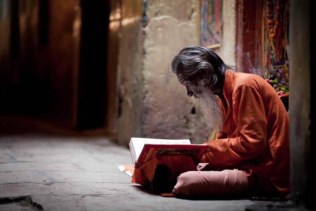 """Zdjęcia: Waranasi,  , Następny """"Swięty"""" tym razem medytujący z dala od ścieżek turystycznych, INDIE"""