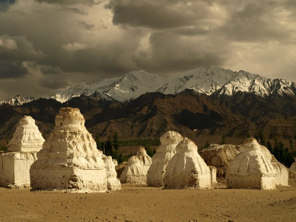 Zdjęcia: Ladakh, ok. Shey, Jammu i Kashmir, Stupy, INDIE