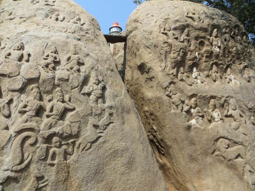 Zdjęcia: Mamallapuram, Tamilnadu, nowa latarnia między reliefami, INDIE