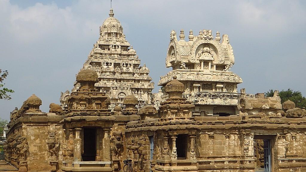 Zdjęcia: Kanchipuram, Tamil Nadu, Świątynia Kajlasanatha, INDIE