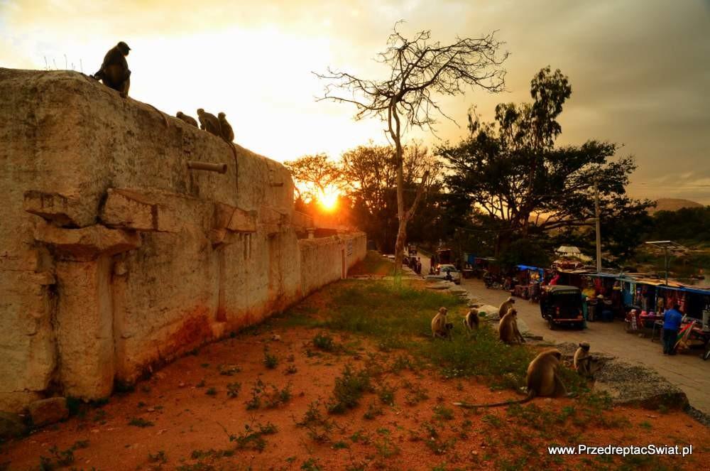 Zdjęcia: Hampi, karnataka, Hampi o zachodzie słońca, INDIE