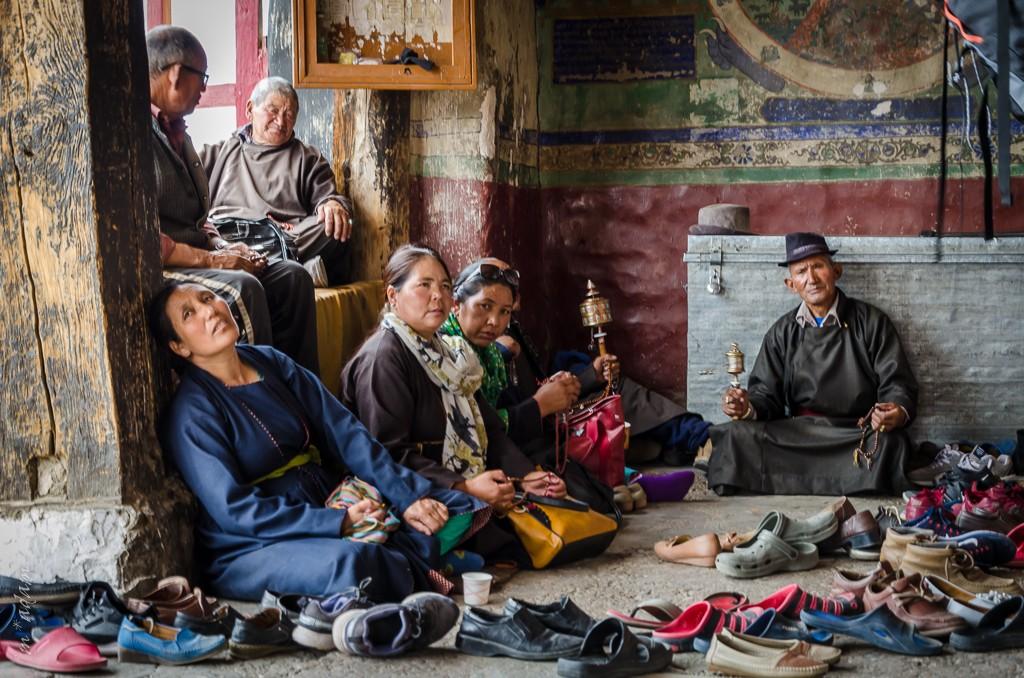 Zdjęcia: Thiksey Monastery, Ladakh, modlitwa..., INDIE