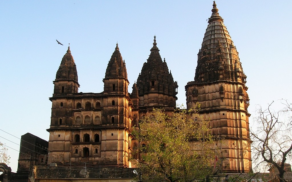 Zdjęcia: Orchha, Madhja Pradesh, świątynia Chaturbhuj, INDIE