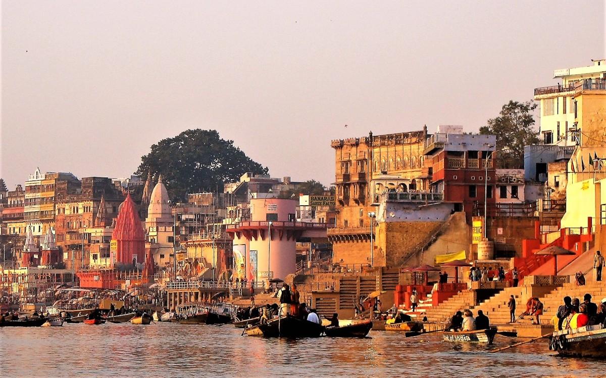 Zdjęcia: Ghaty nad Gangesem, Waranasi, Ghaty o poranku, INDIE