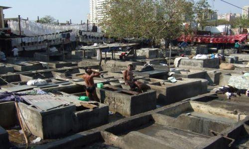Zdjecie INDIE / bombaj / dhobi ghat / dhobi ghat- miejska pralnia