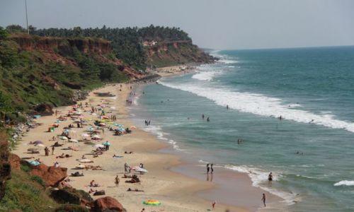 Zdjęcie INDIE / Kerala  / Verkala / szeroki kadr na plaże
