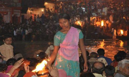 Zdjęcie INDIE / Indie / Haridwar / Ganga aarti
