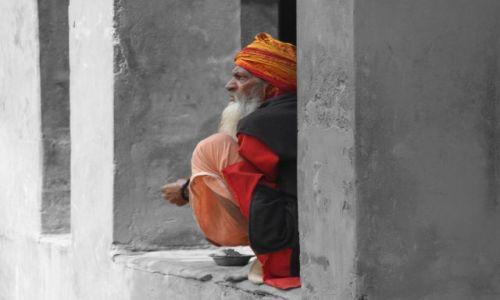 Zdjecie INDIE / Uttar Pradesh / Agra / Żebrak