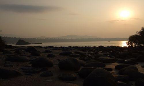 Zdjecie INDIE / Goa / Plaża Palolem / Poranny widok z