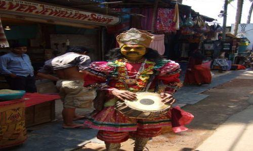 Zdjęcie INDIE / Goa / Plaża Palolem / Miejscowi przebierańcy