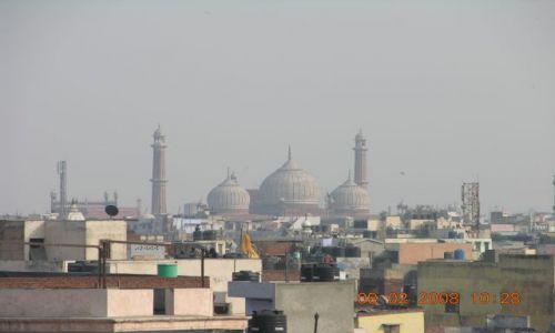 Zdjęcie INDIE / New Delhi / New Delhi / Old Delhi - widok z dachu Spice Market