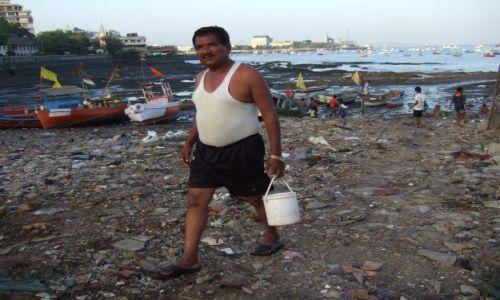 Zdjecie INDIE / Macharasztra / Bombaj / Powrót z nadmorskiej toalety :):)