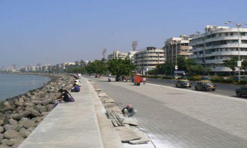 INDIE / Mumbai / Mumbai / Najbardziej prestiżowa ulica Mumbaju - Marine Drive zwane Neklace Road