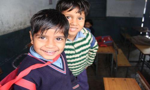 Zdjęcie INDIE / Delhi / Old Delhi / uczniowie w klasie