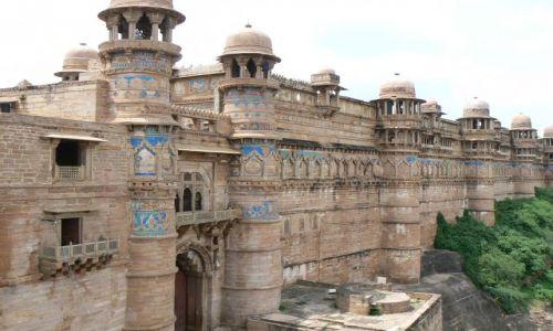 INDIE / Uttar Pradesh / Gwalior / Fort w Gwaliorze