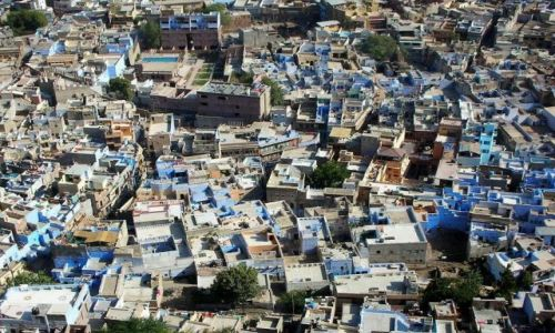 INDIE / Rajastan / Jodhpur / Błękitne miasto