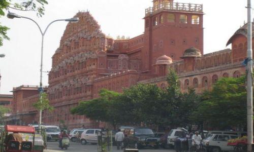 INDIE / Rajasthan / Jaipur / Palac Wiatrow w Jaipur