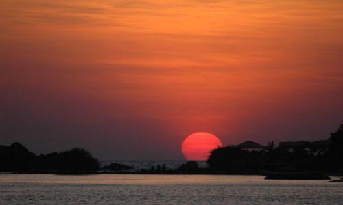 Zdjecie INDIE / Indie Goa / Paloem Beach /  Zachod