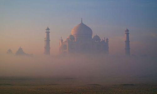 Zdjęcie INDIE / Uttar Pradesh / Agra / Taj Mahal przy wschodzie slonca