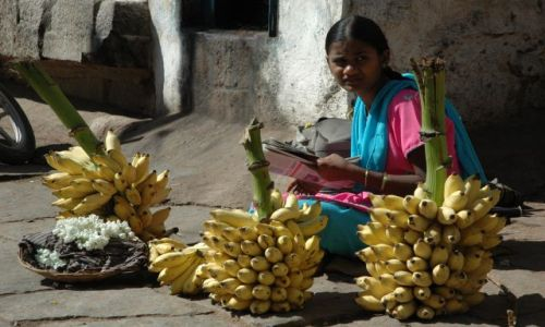 Zdjecie INDIE / Karnataka  / Hampi / smaczne male banany