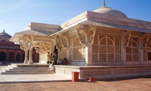 INDIE / Uttar Pradesh / Fatehpur Sikri / Miasto Duchow - Grobowiec Sheika Salim Chisti