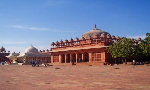 INDIE / Uttar Pradesh / Fatehpur Sikri / Miasto Duchow
