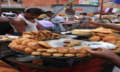 Zdjecie INDIE / Rajasthan / Jaipur / Uliczny stragan - nasz lunch;-)