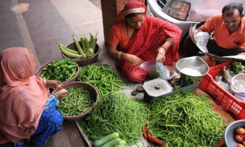 Zdjecie INDIE / Rajasthan / Jaipur / Kolory Ulicy