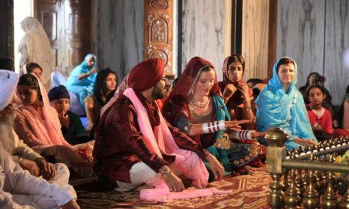 INDIE / Rajasthan / Pushkar / Ceremonia w Swiatynii