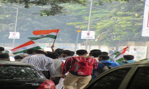 Zdjecie INDIE / Karnataka / Bangalore / Bangalore - demonstracja