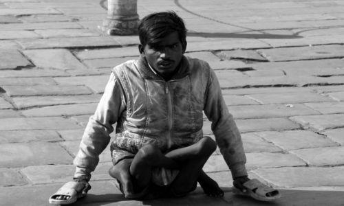 Zdjecie INDIE / Jaipur / Rajasthan / kalectwo
