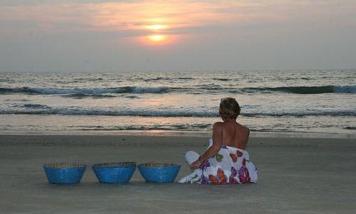 Zdjecie INDIE / Goa / plaża /  Zachód słońca na Goa