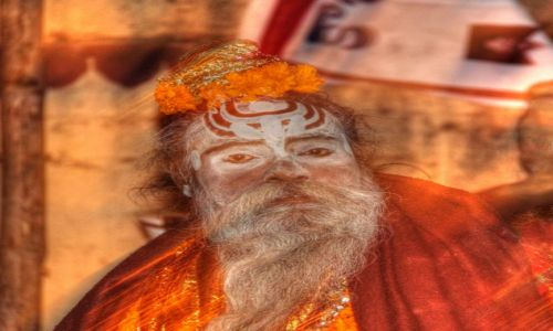 Zdjecie INDIE / Uttar Pradesh / Waranasi / Sadhu