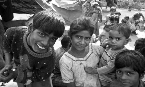 Zdjecie INDIE / - / obrzeża Agry / Dzieci slamsów