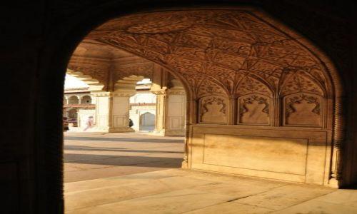 INDIE / Agra / Czerwony Fort / Przesmyk