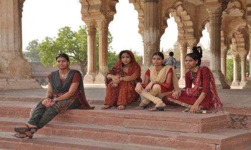 Zdjecie INDIE / - / Agra / Księżniczki