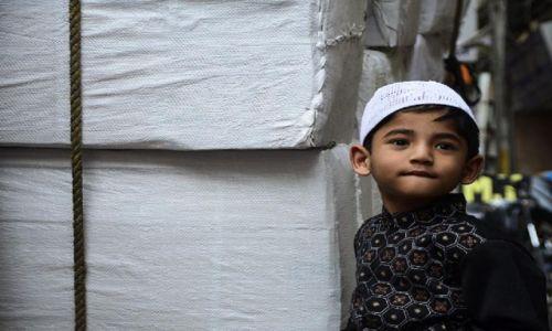 Zdjęcie INDIE / New Delhi / , / maly muzulmanin