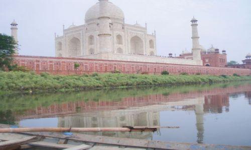 Zdjecie INDIE / Radżastan / Agra rzeka Ałuna / Taj Mahal od strony rzeki