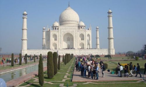 Zdjecie INDIE / Agra / Taj Mahal / Taj przed polud