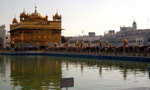 Zdjecie INDIE / - / Golden Temple Amritsar / Kolejka wiernyc